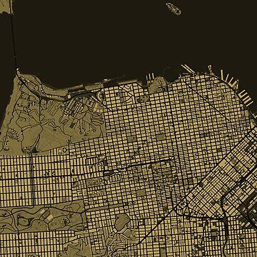 San Francisco map by PlanosUrbanos
