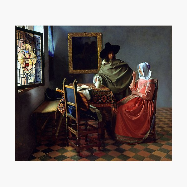 Johannes Vermeer The Wine Glass Photographic Print