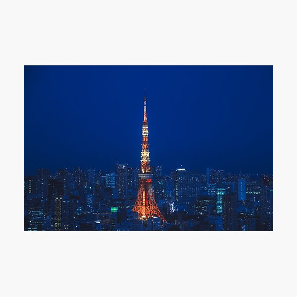 Tokyo Tower in Blue Photographic Print