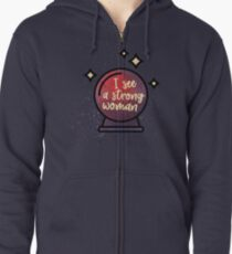 I see a strong woman Zipped Hoodie