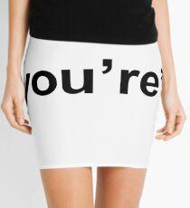 You're - Black Print Mini Skirt