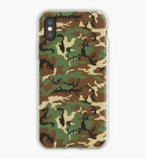 Vintage Retro Woodland Pattern Camouflage Phone Cases iPhone Case