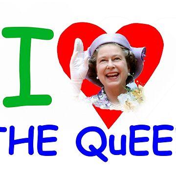 'I Love the Queen' HM Queen Elizabeth - Pro design by Picturestation