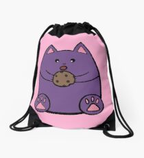 Fat Cat Cookie Drawstring Bag