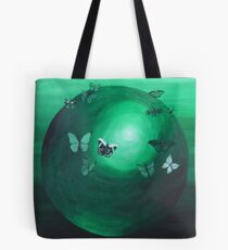 Green Butterfly Sphere Tote Bag