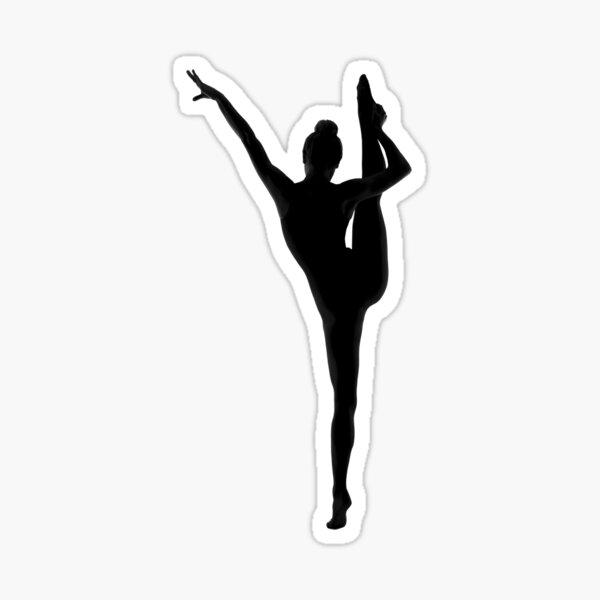 silhouette dancer 01 Sticker