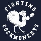 Fighting Cockmonkeys by FlamingDerps