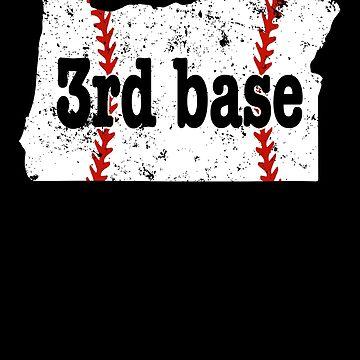 3rd Base Coach Oregon Shirt 3rd Base Softball Shirt by shoppzee
