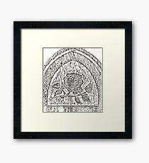 Bethany Rose Headstone Rubbing Framed Print