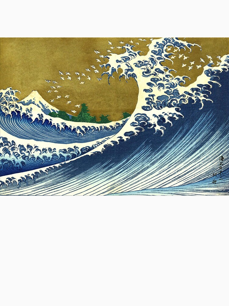 HOKUSAI, A Coloured Version Of, The Big Wave, Japan, Japanese by TOMSREDBUBBLE