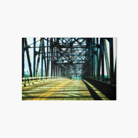 Wrought iron truss bridge Art Board Print