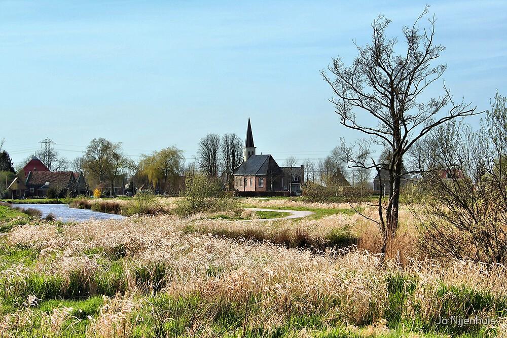 View at the Church of Munnekeburen by Jo Nijenhuis