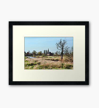 View at the Church of Munnekeburen Framed Print