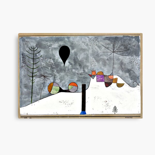 Klee - Winter Painting, abstract art Metal Print