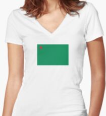 Flag of People's Republic of Benin, 1975-1990 Women's Fitted V-Neck T-Shirt