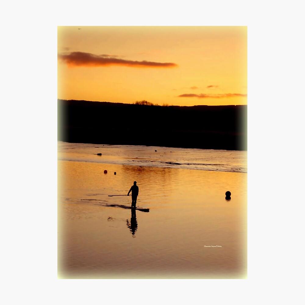 Golden Paddler Photographic Print