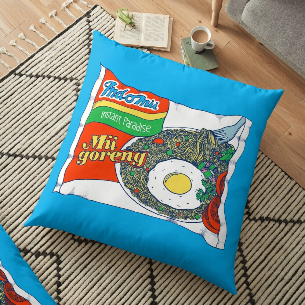 Indomii Goreng Instant Noodle Floor Pillow
