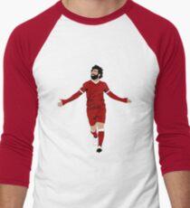 Mo Salah Illustration - LFC Liverpool FC Gift - Art - Poster - Print - Clock - T-Shirt - Tee Men's Baseball ¾ T-Shirt