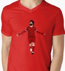 Mo Salah Illustration - LFC Liverpool FC Gift - Art - Poster - Print - Clock - T-Shirt - Tee Men's V-Neck T-Shirt