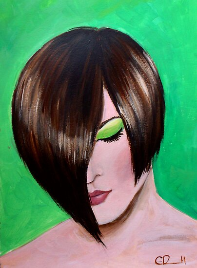 Green eyed girl by Carole Russell