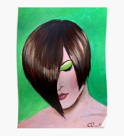 Green eyed girl Poster