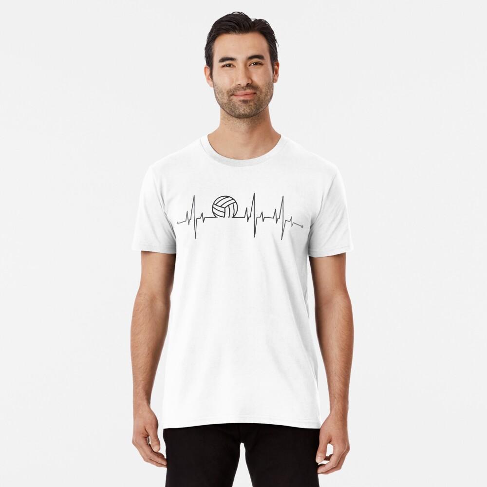 Volleyball Heartbeat Premium T-Shirt