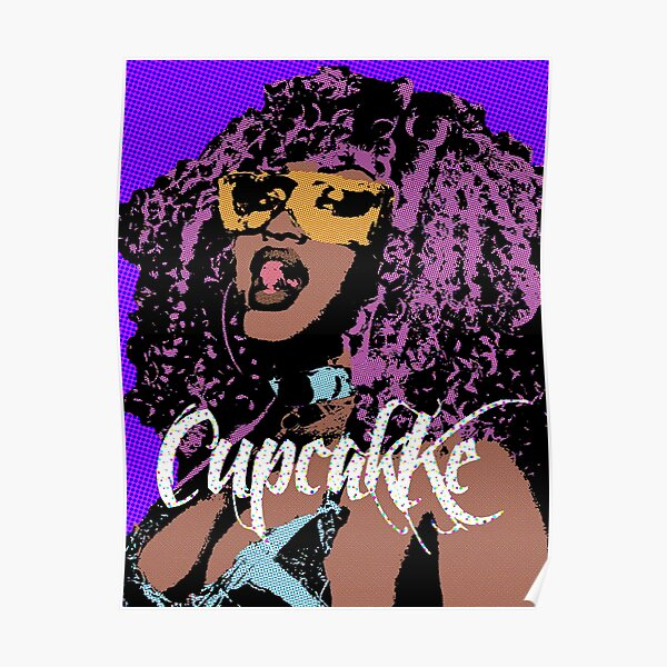 Cupcakke pop art Poster