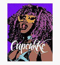 Cupcakke pop art Photographic Print