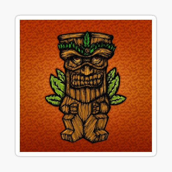 Tiki monster Sticker