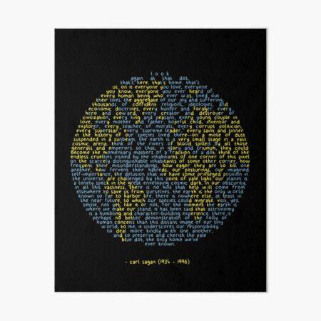 Pale Blue Dot Art Board Print