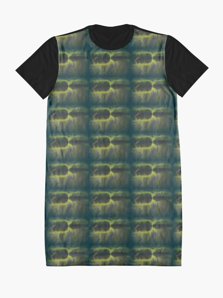 Alternate view of turtle swimming away at Trojan pond, near Goble, Oregon Graphic T-Shirt Dress