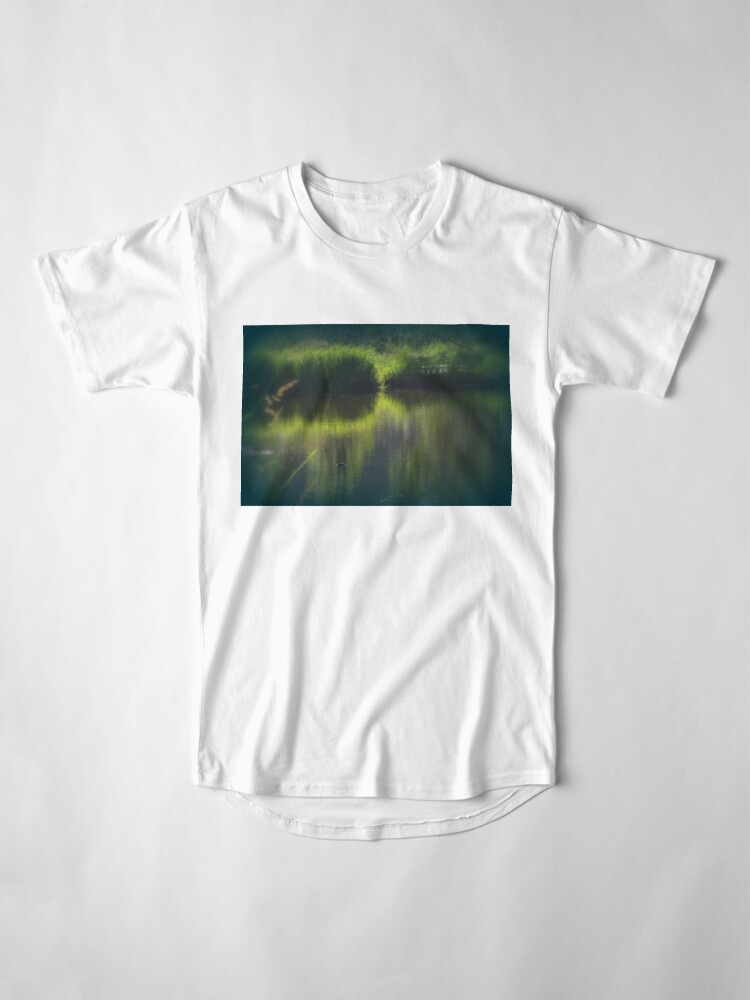 Alternate view of turtle swimming away at Trojan pond, near Goble, Oregon Long T-Shirt