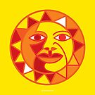 Sunny Sun on Yellow Background by Desiree Smith