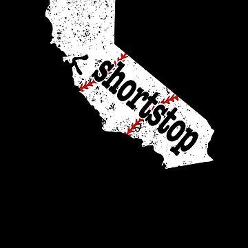 California Shortstop Baseball Shortstop Softball by shoppzee