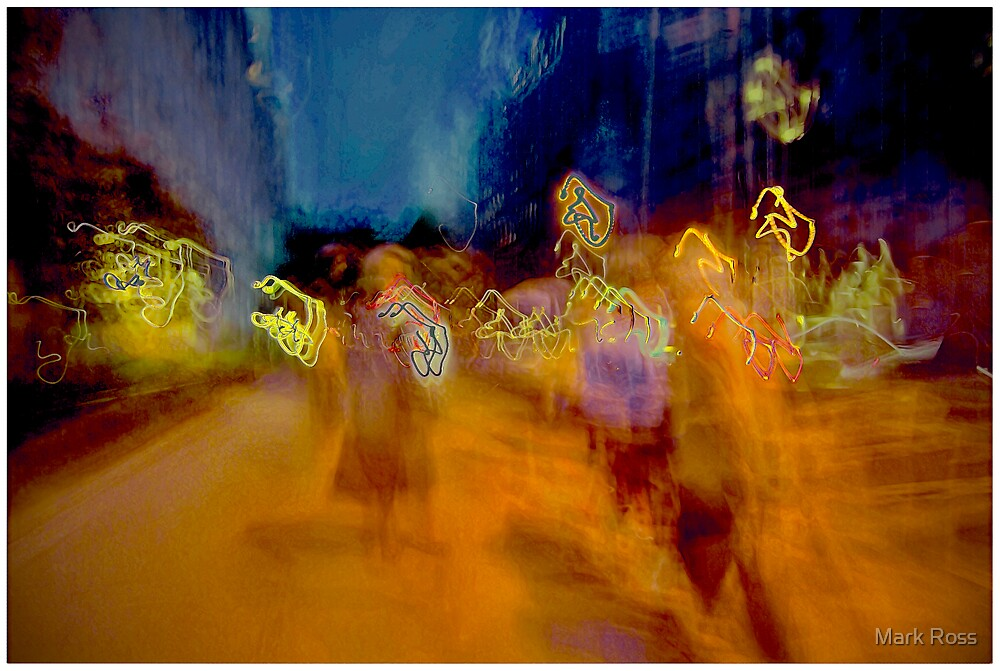 At Night East 79th Street by Mark Ross