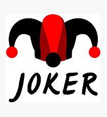 Poker Joker  Photographic Print