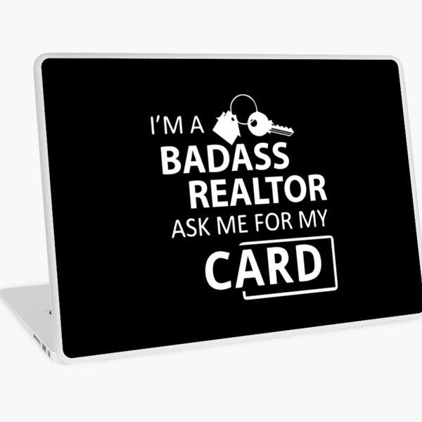 Badass Realtor Worker Isn't an Official Title Laptop Skin