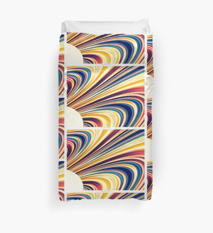 Color and Form Abstract - Solar Gravity and Magnetism 5 Duvet Cover
