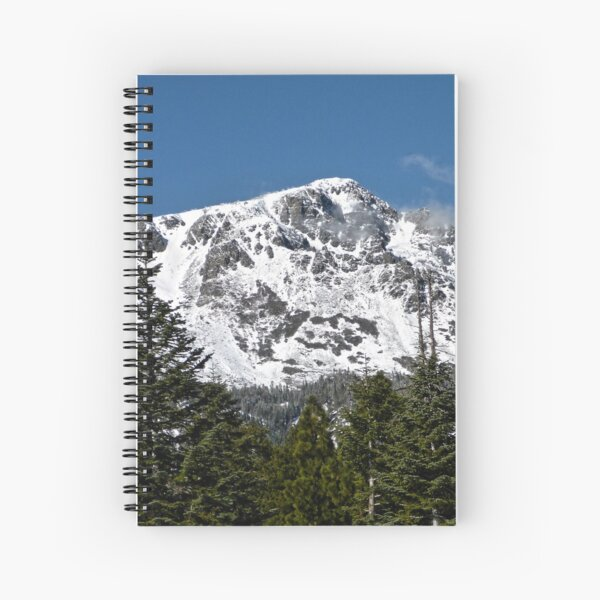 Snow Covered Mount Tallac Spiral Notebook