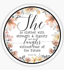 Christian Gifts Proverbs 31:25 Sticker