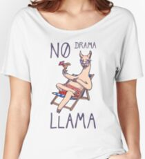 No Drama Llama Women's Relaxed Fit T-Shirt