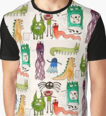 Monsters With Teeth and Tiny Icky Things Graphic T-Shirt