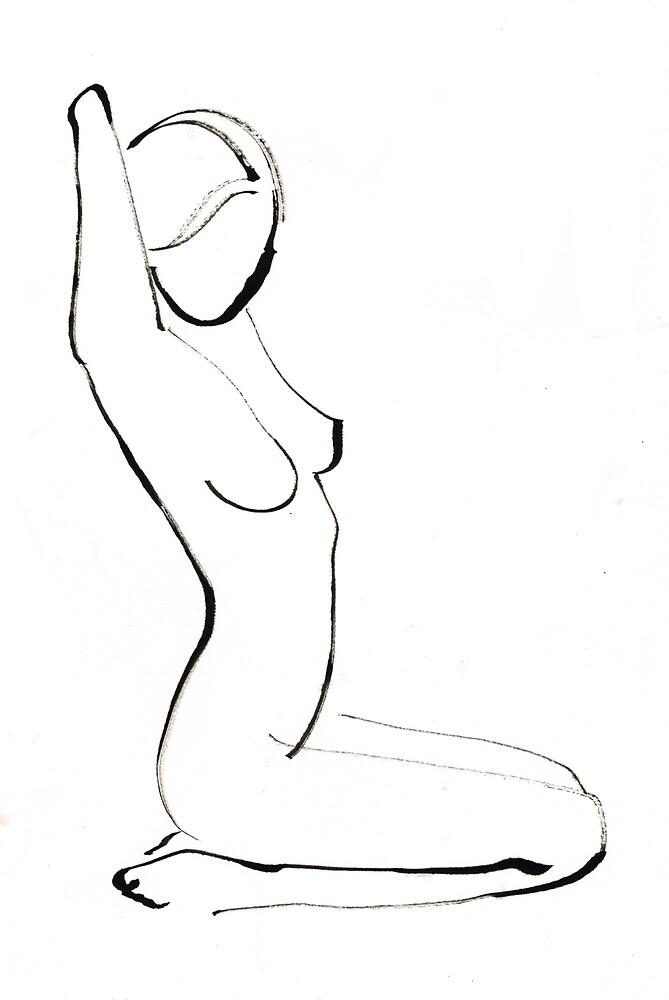 Nude Model Drawing by CatarinaGarcia