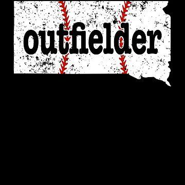 South Dakota Softball Outfielder Baseball Outfielder by shoppzee