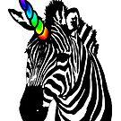 «cebra unicornio arcoiris» de Galbrin
