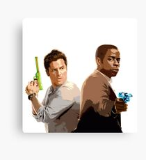 Shawn and Gus (Psych) 2 Canvas Print