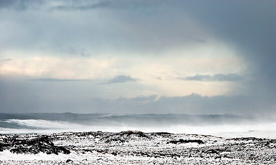 Sea storm by Stefán Kristinsson