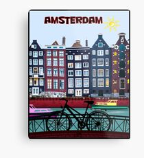 BICYCLE RIDING; In Amsterdam Holland Print Metal Print