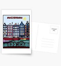 FAHRRAD FAHREN; In Amsterdam Holland Drucken Postkarten