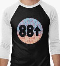 Cherry Blossoms 88Rising Logo Men's Baseball ¾ T-Shirt